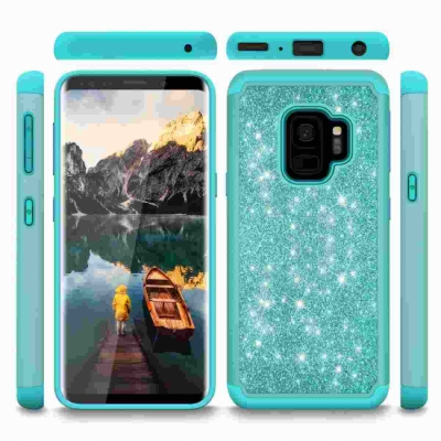 Samsung Galaxy S9 Glitter Shockproof Bumper Case Cover